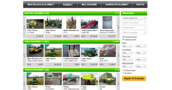Agrimarket uudistettu vaihtokonesivusto